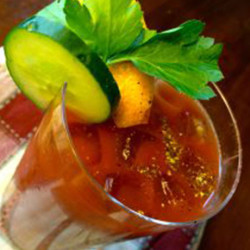 Serving up Fresh Vegetable Juice and a Bloody Mary (Video)