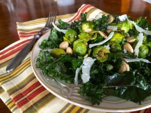 Kale and Brussels Sprouts Salad | pkway