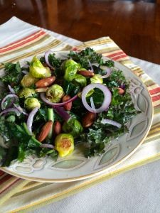 Brussels Sprouts and Kale Salad | pkway