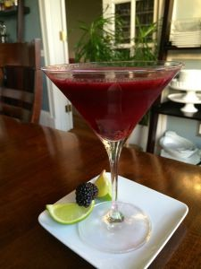 Blackberry Margarita Martini