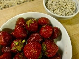 Strawberries & Sunflower Seeds