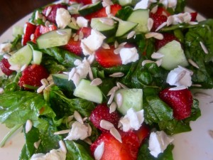 Strawberry and Sunflower Seed Salad | PK Newby