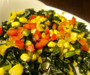 Corn and kale| pkway