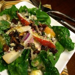 Pretty Pear and Arugula Salad with Toasted Walnut Vinaigrette (Video)