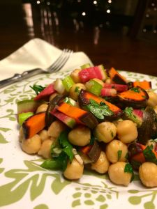 Chopped Salad with Chick Peas