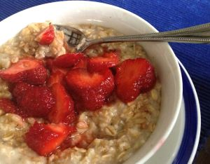 Strawberry Porridge | #pkway