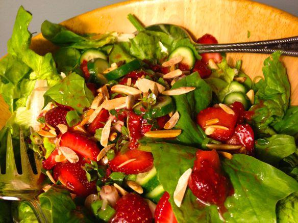 Strawberry and Almond Salad } PK Way