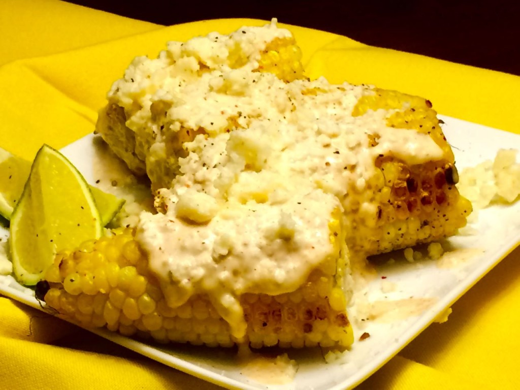 Mexican Corn with Aioli and Cotija