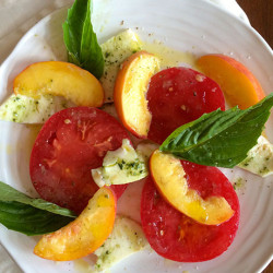 Summer on a Plate: Caprese, Meet Peaches