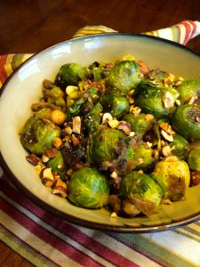 Brussels Sprouts , Caramelized Onions, and Filberts
