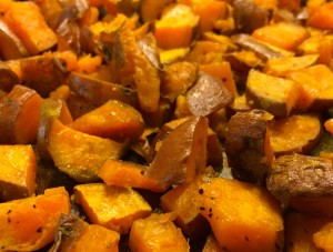 Roasted Sweet Potatoes Close-up