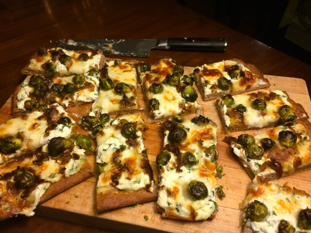 Brussels Sprouts and Onion Pizza