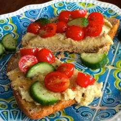 Artichoke Hummus on Whole Grain Bread: A Perfect Lunch or Snack