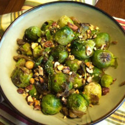 Healthy Holidays: Roasted Brussels Sprouts with Caramelized Onions (Recipe)