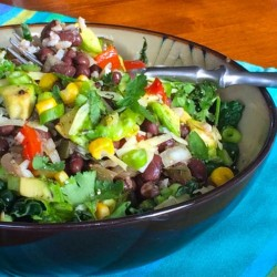 Mexican Rice and Bean Bowl with Cilantro-Lime Vinaigrette