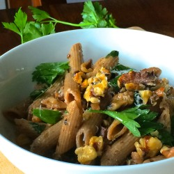 Pasta with Grilled Vegetables, Toasted Walnuts, and Parsley: Perfect Summer Fare