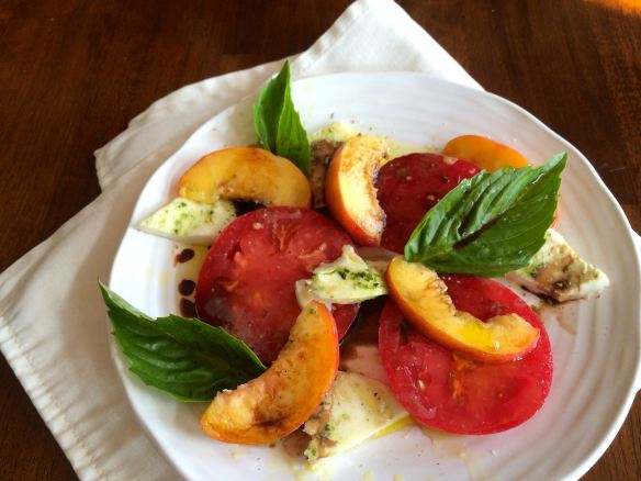 Caprese Salad with Peaches