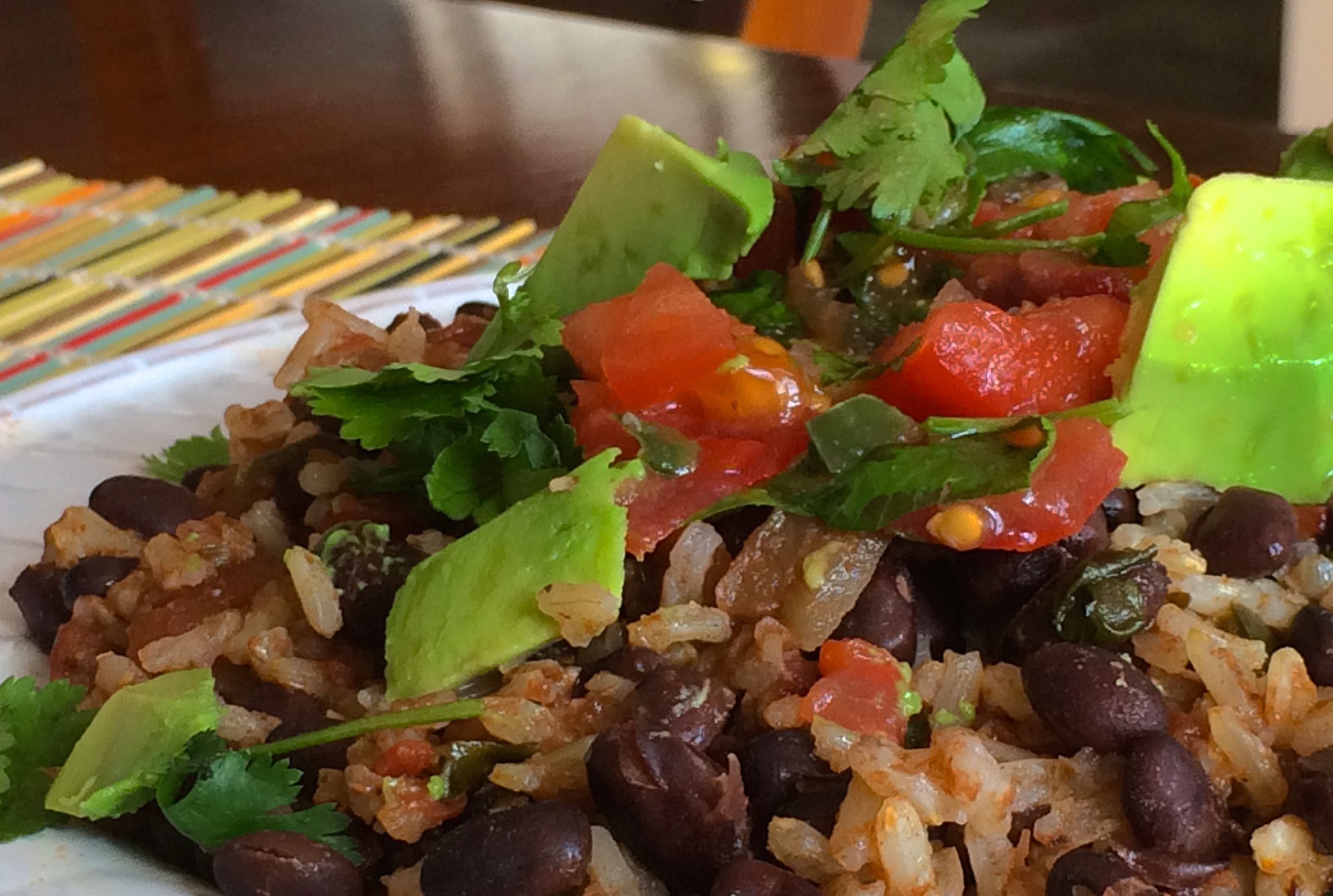 Mexican Rice and Beans | #pkway