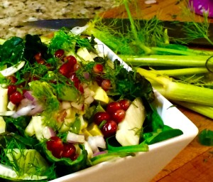Pomegranate and Fennel Salad | #pkway