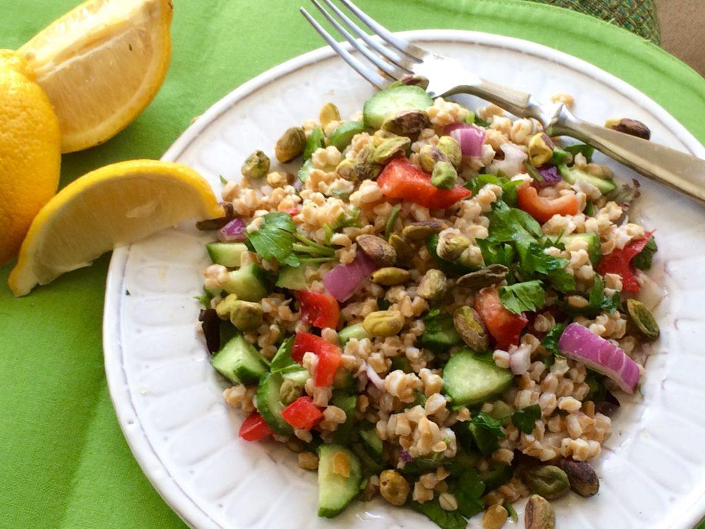 Mediterranean Farro Salad | #pkway