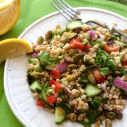 Simple Mediterranean Farro Salad (Recipe)