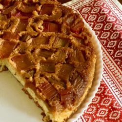 Rhubarb Upside Down Cake, the PK Way (Recipe)