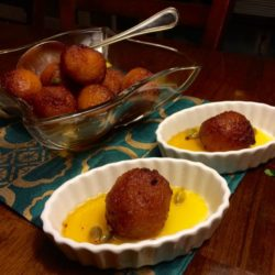 Pati's Gulab Jamun (aka, Indian Donuts in Saffron Simple Syrup)